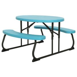 Lifetime Children's Oval 4 Seater Picnic Table - Blue