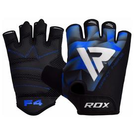RDX Medium/Large Weight Lifting Gloves - Blue