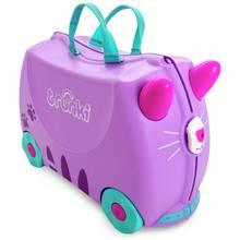 Trunki Cassie the Cat 4 Wheel Hard Ride On Suitcase - Purple