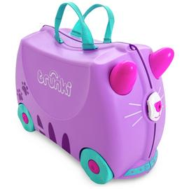 Trunki Cassie the Cat 4 Wheel Hard Ride On Suitcase - Purple