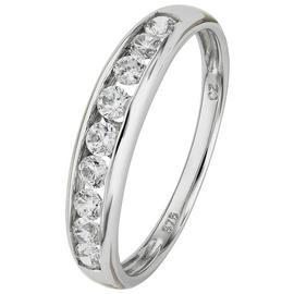 Revere 9ct White Gold Cubic Zirconia Eternity Ring.
