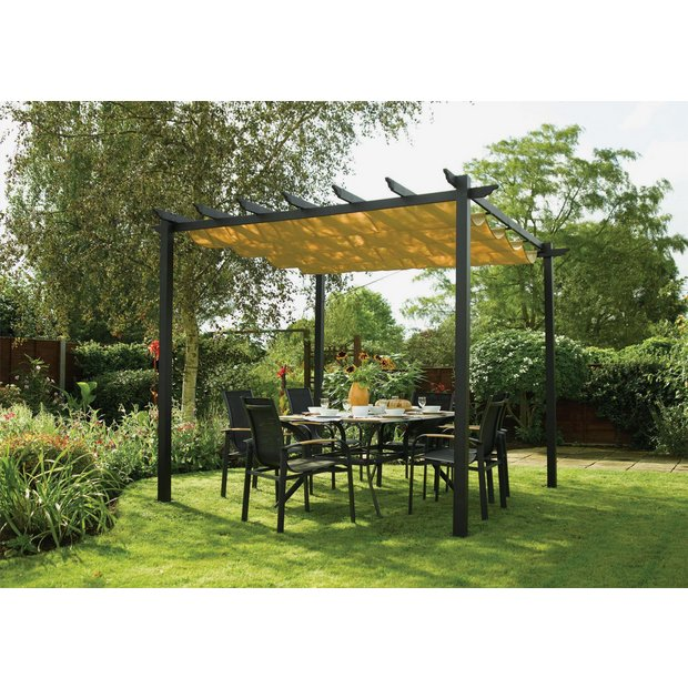 buy rowlinson latina aluminium frame canopy 9 x 9ft at your online shop for. Black Bedroom Furniture Sets. Home Design Ideas