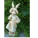 more details on Mrs Rabbit Statue.