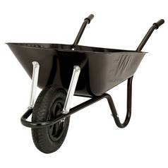 Walsall Wheelbarrows 85L Heavy Duty Builders Barrow - Black
