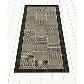 Argos Home Cottage Blocks Runner - 180x60cm - Grey