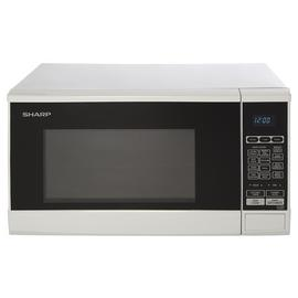 Sharp 800W Standard Touch Microwave R270WM - White
