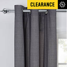 HOME Grid Unlined Eyelet Curtains