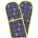 more details on Beau and Elliot Confetti Outline Oven Gloves - Blue.