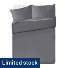 Argos Home Grey Waffle Bedding Set - Kingsize