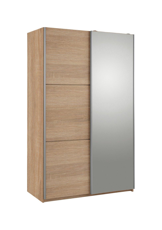 Hygena Bergen 2 Door Small Sliding Wardrobe - Oak \u0026 Mirror  sc 1 st  Argos & Results for small folding doors