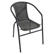 HOME Steel Wicker Balcony Chairs - 2 Pack