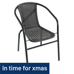 Argos Home Steel Wicker Balcony Chairs - 2 Pack