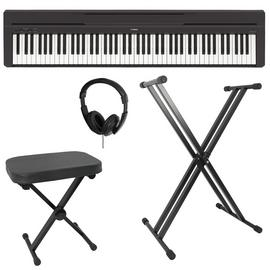 Yamaha P-45B Compact Series Digital Piano Bundle - Black