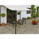more details on Greenhurst Wall Mounted Garden Gazebo 2.5m.