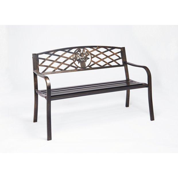 Fantastic Buy Greenhurst Cast Iron 2 Seater Garden Bench Brown Garden Benches And Arbours Argos Ibusinesslaw Wood Chair Design Ideas Ibusinesslaworg