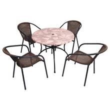 Europa Leisure Romano 4 Seater Metal Patio Set