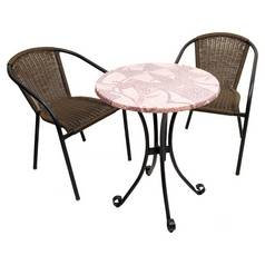 Europa Leisure Romano 2 Seater Metal Bistro Set