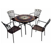 Europa Leisure Alcira Malaga 4 Seater Metal Patio Set
