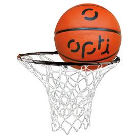 Opti Basketball Ring Net And Ball