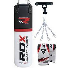 RDX 4ft Punchbag with Gloves, Chains and Bracket