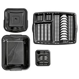 Argos Home Soft Grips Kitchen Set - Black Glitter