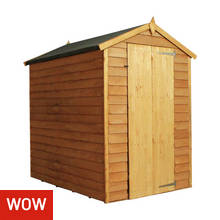 Mercia Overlap Windowless Shed - 6 x 4ft