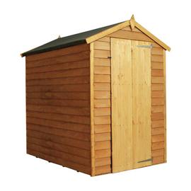 Mercia Wooden 6 x 4ft Overlap Windowless Shed