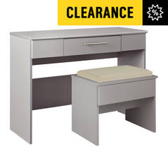 Argos Home Normandy 2 Drawer Dressing Table - Grey