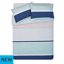 HOME Sanna Stripe Bedding Set - Double