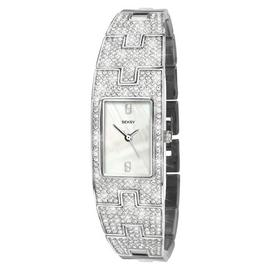 Seksy Ladies' Stainless Steel Crystal Strap Watch