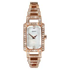 Seksy Ladies' Rose Gold Plated Stainless Steel Watch