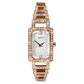 Seksy Ladies Rose Gold Plated Stainless Steel Watch