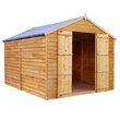 more details on Mercia Wooden 12 x 8ft Overlap Windowless Shed