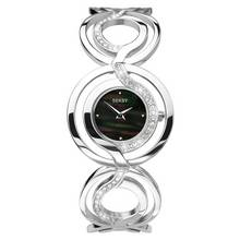 Seksy Ladies' Black Mother of Pearl Dial Bracelet Watch