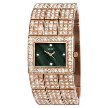 Seksy Ladies' Rose Gold Plated Stone Set Watch