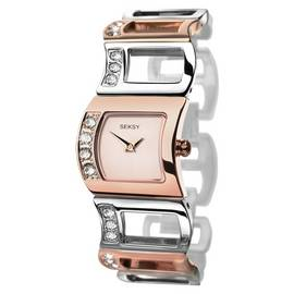 Seksy Ladies' Rose Gold Plated Two Tone Watch