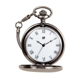 Spirit Men's Brushed Gunmetal Pocket Watch