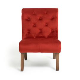 Habitat Moorlands Velvet Accent Chair - Red