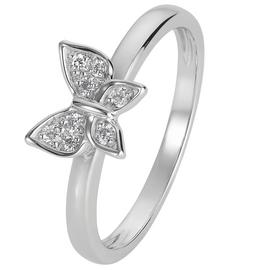 Revere Sterling Silver Cubic Zirconia Butterfly Ring