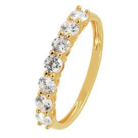 Revere 9ct Gold Claw Set Cubic Zirconia Eternity Ring