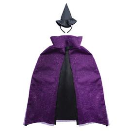Halloween Sparkle Witch Cape & Hat