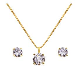 Revere 9ct Gold Plated Silver Pendant & Earring Set