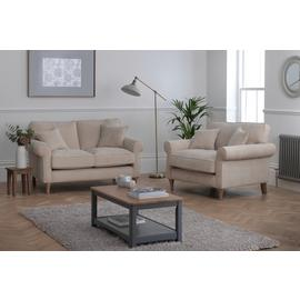 Argos Home William Fabric Chair & 2 Seater Sofa - Natural