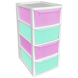 Argos Home Pink 4 Drawer Storage Tower
