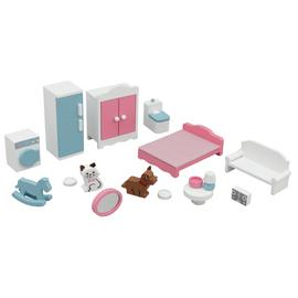 Jupiter Workshops Wooden Deluxe Dolls House Furniture Set