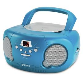Groov-e Boombox CD Player with Radio – Blue