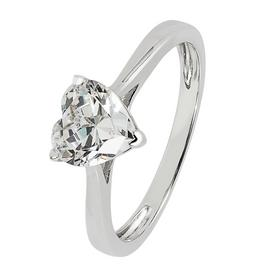 Revere Sterling Silver Heart Cut Cubic Zirconia Ring