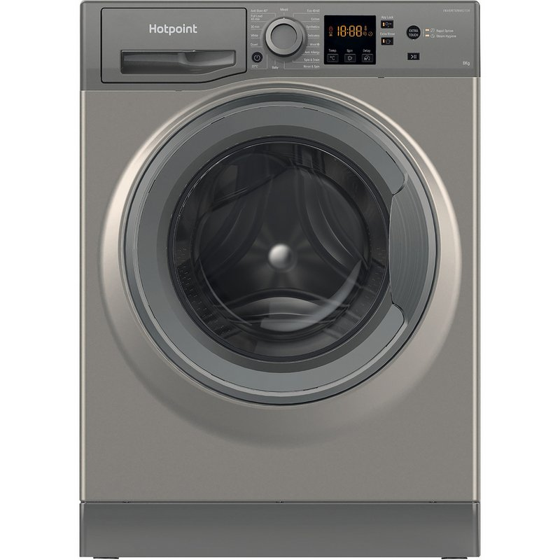 Hotpoint NSWM843CGG 8KG Washing Machine - Graphite from Argos