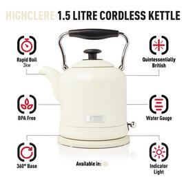 Haden 197238 Highclere Kettle - Cream