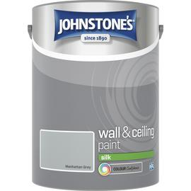 Johnstone's Wall & Ceiling Paint Silk 5L - Manhattan Grey